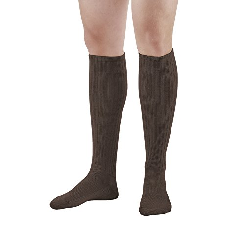 Ames Walker AW Style 185 E-Z Walker Sport 8-15 Mild Compression Knee High Socks Brown Medium - Help prevent discomfort swelling and mild venous issues - Moisture wicking - Padded foot from Ames Walker