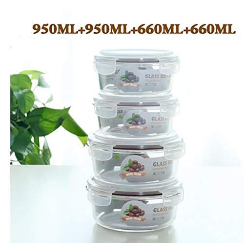Liliya& Caja de almuerzo de cristal horno de microondas ...