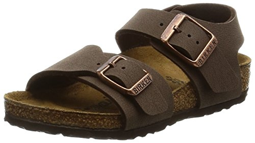 Birkenstock Unisex-Child New York Kids Mocca Birkibuc Sandals 24.0 N EU N 087783 by Birkenstock