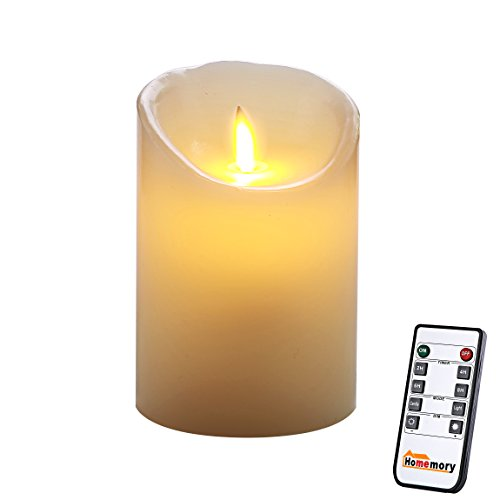 ng Wick Candle, Remote, Real Wax, Battery Operatored (Do 5 Candle)