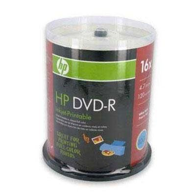 HP DVD-R 4.7GB 16X White Inkjet Printable 100 Pack for sale  Delivered anywhere in USA
