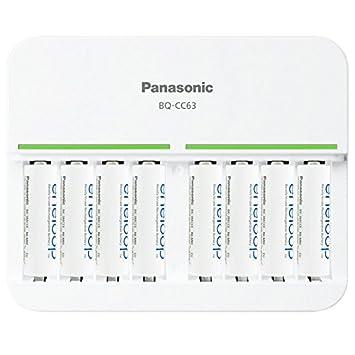 8 Compartimento Panasonic Cargador de rápido y 8 pieza ...