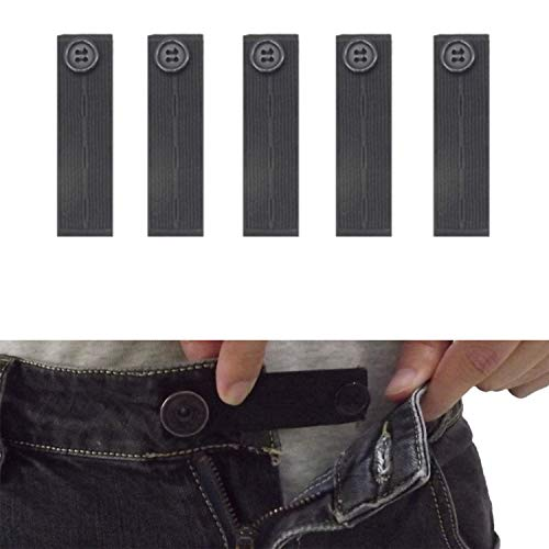 63b4c26af5320 Janext Button Extenders for Jeans Adjustable Elastic Pants Waist  Extender,5-Pack