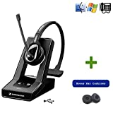 Sennheiser SD PRO1 - Cordless Headset For PC/MAC and Desk Phones - Cisco, Polycom, Avaya, Yealink, ShoreTel, Mitel | Compatible with IP telephones, Digital and Softphones