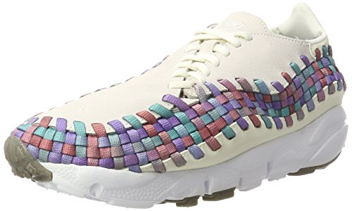 Nike Women Wmns Air Footscape Woven Gymnastikschuhe Mehrfarbig (Sail/White/Red Stardust/Orchid Mist)
