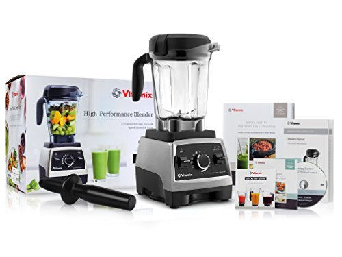 Vitamix 750 Heritage G-Series Blender with 64-Ounce Container + Introduction to High Performance Blending Recipe Cookbook + Getting Started DVD + QuickStart Guide + Low-Profile Tamper