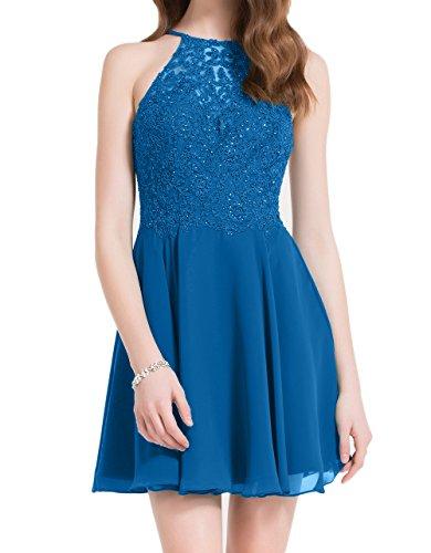 Abendkleider Schwarz Braut Blau Mini Spitze Hundkragen Tanzenkleider Cocktailkleider Partykleider La Marie wgAqfppS