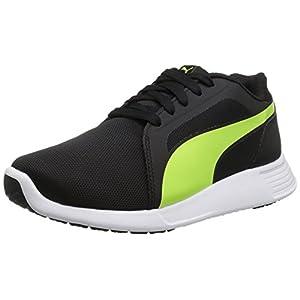 PUMA Men's ST EVO Cross-Trainer Shoe, Black-Safety Yellow, 8 M US