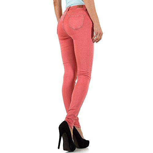 ... Ital-Design Destroyed High Waist Skinny Jeans Für Damen Rot v8iTy d846062cde