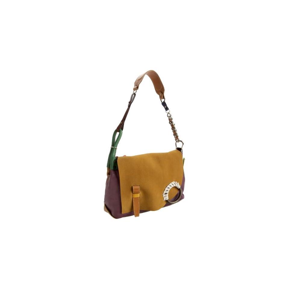 Isaac Mizrahi Multi Leather Shoulder Bag