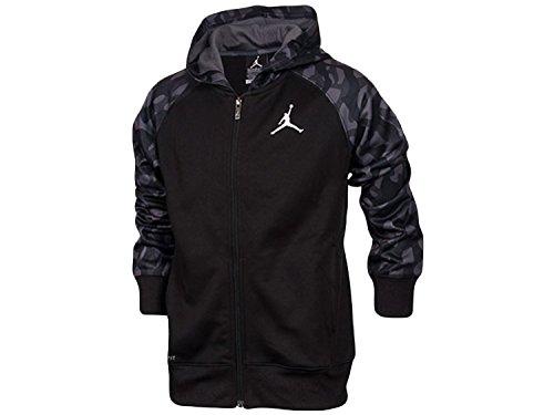 Jordan Nike Boys Youth Camo Full-Zip Hoodie Jacket Black Size XL (13-15)