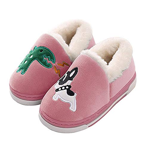 Cute Dinosaur Slippers Kids/Toddlers/Adult Family Cartoon Winter Warm House Slippers Booties