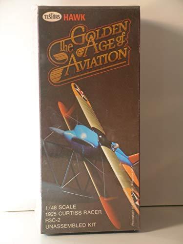 Testors/Hawk Models-1/48 Scale The Golden Age of Aviation-1925 Curtiss Racer R3C-2-Plastic Model Kit