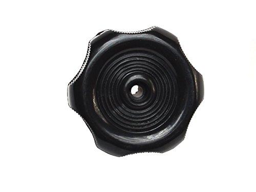RV Designer H711, Plastic Window Knob, 2-1/4 inch Diameter, 1/2 inch Shaft, Black, Interior Hardware ()