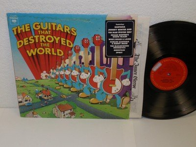 (VARIOUS: The Guitars that Destroyed the World LP Columbia C31998 Santana/BOC V/A)