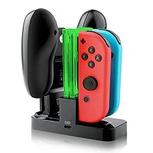 IVSO Nintendo Switch Joycon Cargador Charging Dock, Compacto ...