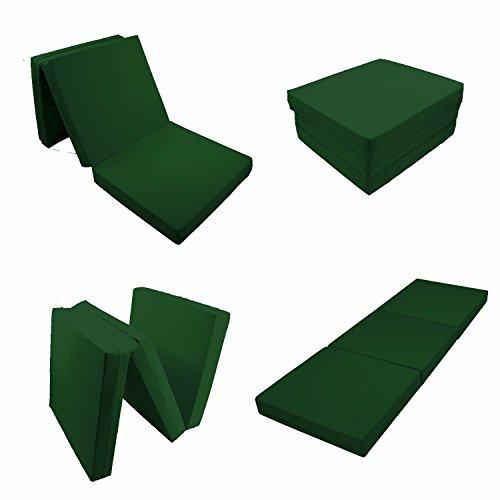 3 Flip Trifold Folding Foam Floor Mat Bed Ottoman-Hunter