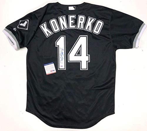 Paul Konerko Jersey - Paul Konerko Autographed Jersey - Black Coa Aa70557 - PSA/DNA Certified