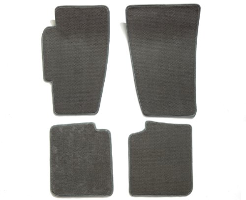 -piece Set Carpet Floor Mats for Buick Park Avenue (Premium Nylon, Gray Mist) ()