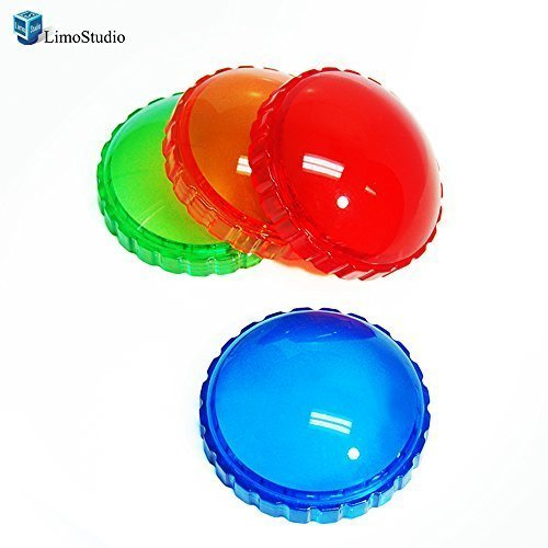 4 Color Gels (LimoStudio Photography Photo Studio 4 Color Gel Filter for 45W Strobe Flash Light,)