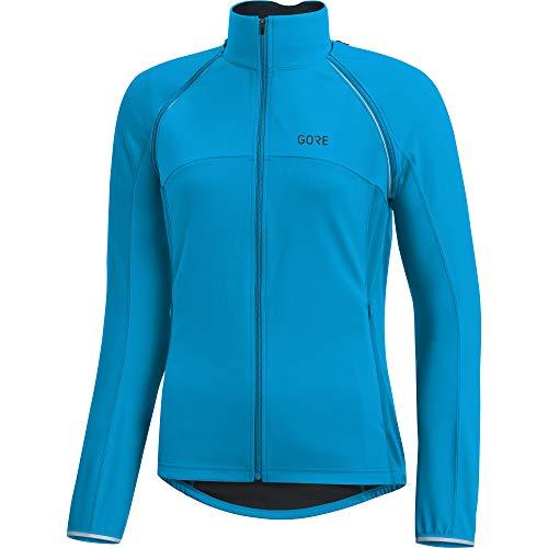 (GORE Wear Women's Windproof Cycling Jacket, Removable Sleeves, C3 Women's WINDSTOPPER Phantom Zip-Off Jacket, Size: S, Color: Dynamic Cyan, 100191)