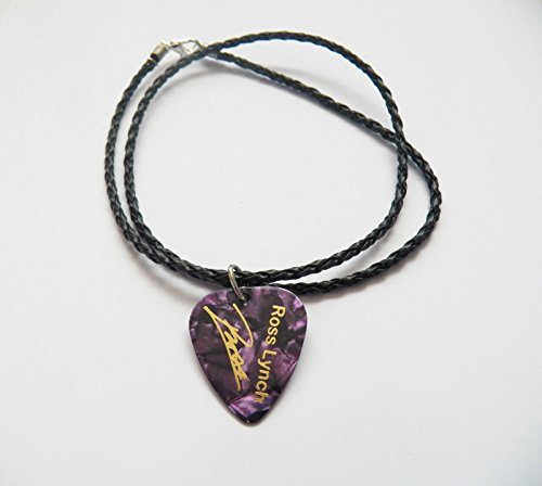 R5 ROSS LYNCH guitar pick plectrum Signature LEATHER NECKLACE 20
