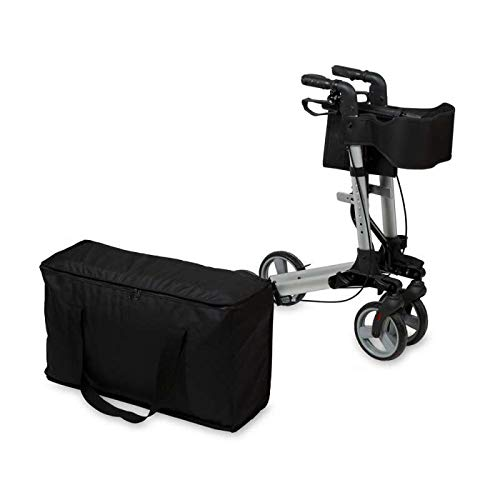 SPEED CARE FDA Approved Euro Style Deluxe Dual Brake Rollator Walker Value Bundle with Seat, Storage Bag, Bonus Saddle Bag Included by SPEED CARE