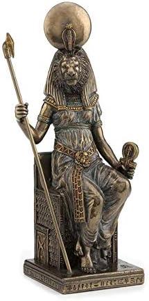 Studio collection Statue de SEKHMET d/éesse lionne Egytienne Neuve r/ésine Couleur Laiton Figure Egypte Antique