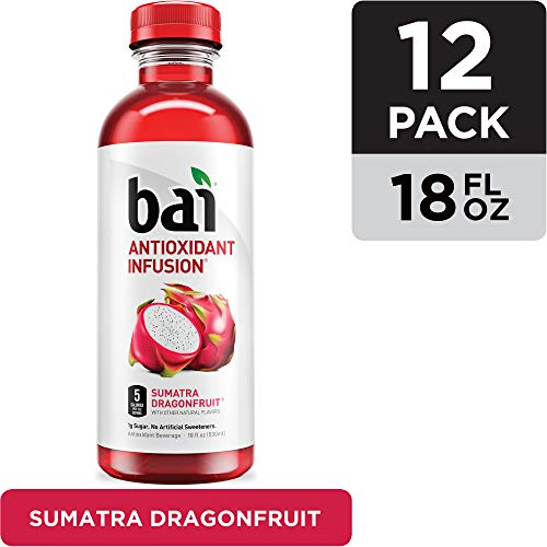 Bai Flavored Water, Sumatra Dragonfruit, Antioxidant Infused Drinks, 18 Fluid Ounce Bottles, 12 count (The Best Antioxidant Fruit)