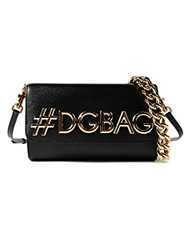 Dolce E Gabbana Women's Bb6436ah5318s193 Black Leather Shoulder - Black Dolce Bag Gabbana And
