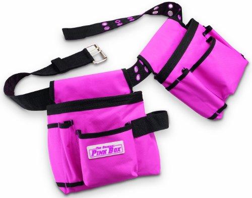 The Original Pink Box PB2BELT Tool Belt, 10-Pocket, Pink