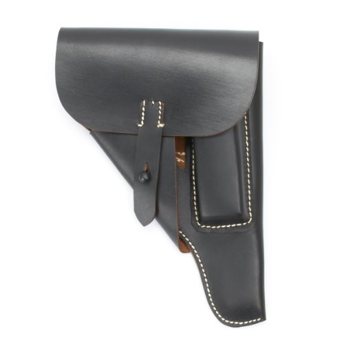 German WWII P-38 Softshell Black Leather Holster P38 ()