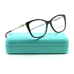 Tiffany & Co. TF 2160-B Women Eyeglasses RX - able Havana Frame (8134) 52mm