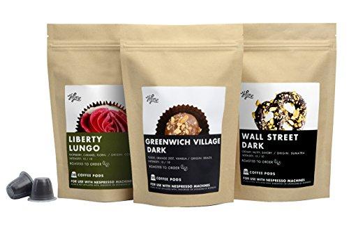 Greenwich Coffee (60 Count HiLine Coffee Dark Roast Capsules: Delicious Alternative to Nespresso Capsules, Nespresso Pods, Nespresso Coffee)