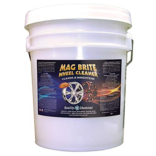 Quality Chemical Mag Brite - Acid wheel cleaner formulated to safely remove brake dust and heavy road film.-5 gallon - Brite Cleaner Wheel