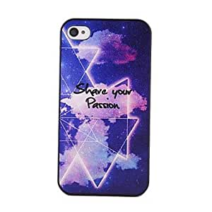 SOL Coway Pentagram Mobile Phone Shell Fine Case for iPhone 4/4s