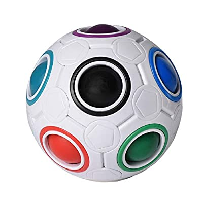 Magic Rainbow Ball - Fun Color Matching Puzzle Game, Fidget Toy for Kids - Stress Ball for Adults - Brain Teasers Games Gifts for Boys and Girls: Toys & Games