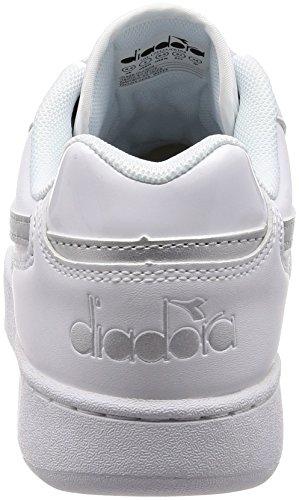 Diadora Bianco Donna Argento Bianco Playground Wn Sneaker Twq4A6T