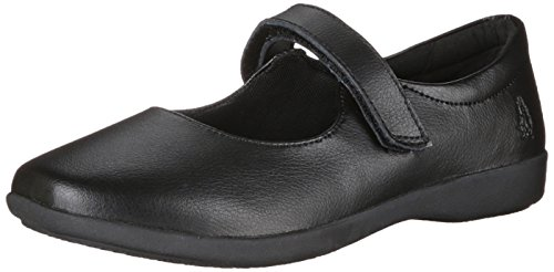 Hush Puppies Lexi Uniform Mary Jane (Toddler/Little Kid/Big Kid), Black, 1 M US Little Kid ()