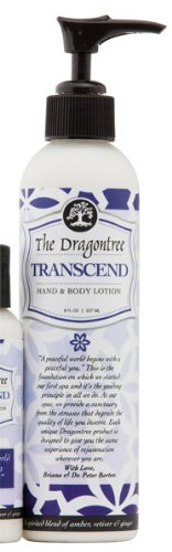 Moisturizing Hand & Body Lotion - (Transcend) - A Spirited Blend of Amber, Vetiver & Ginger- For Dry, Itchy, and Irritated Skin - Reduce Signs of Aging - 8oz Bottle By the Dragontree ()
