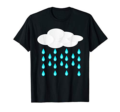 Rain Cloud Costume T-Shirt Shower Rainbow Sun Thunder ()