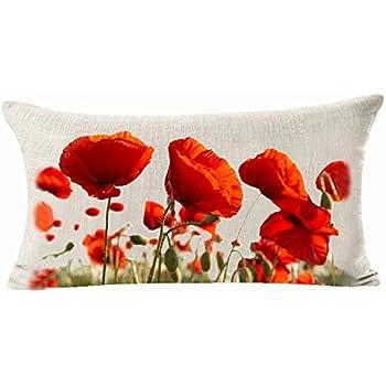Amazon Enchanting Beautiful Red Poppy Flowers Garden Gift Fascinating Poppy Decorative Pillows