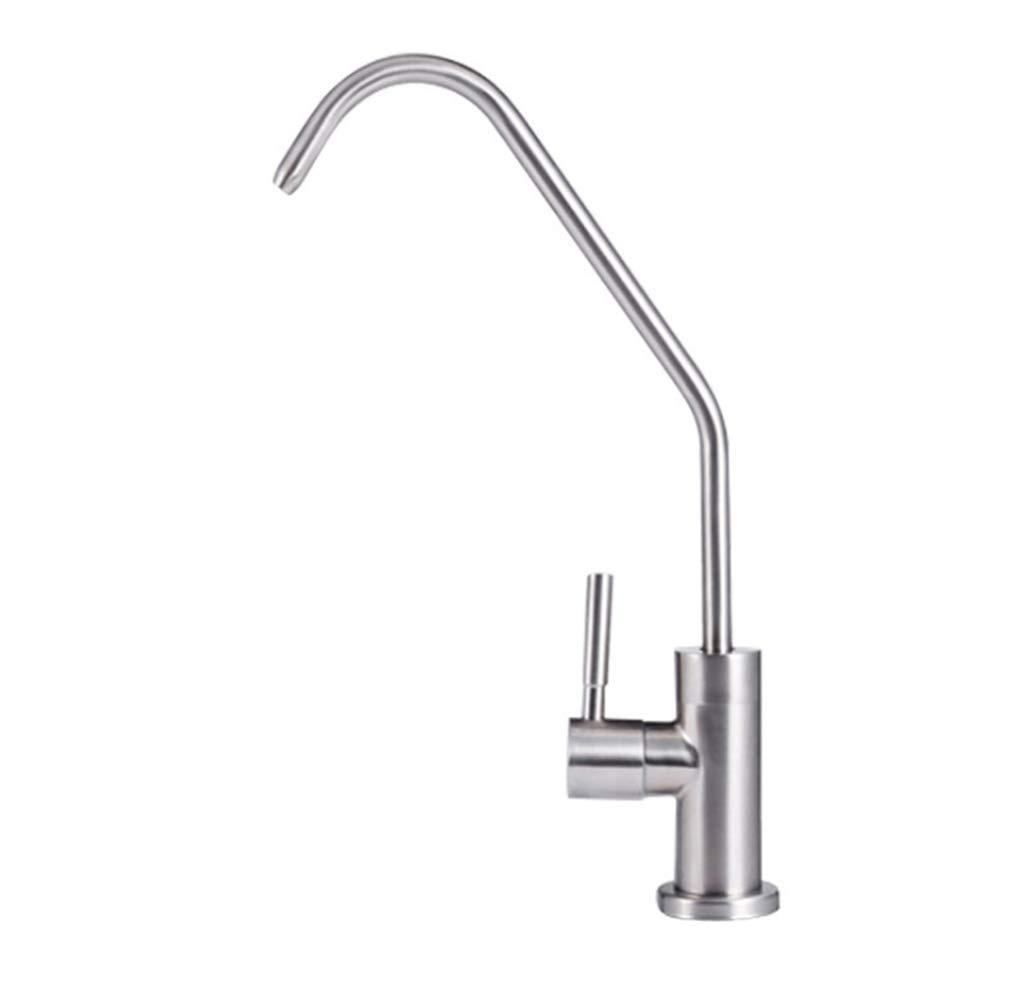 Grifo para fregadero de cocina moderno de acero inoxidable inoxidable inoxidable 304 con rotación de 360 grados de agua fría y caliente mezclada 67bbde
