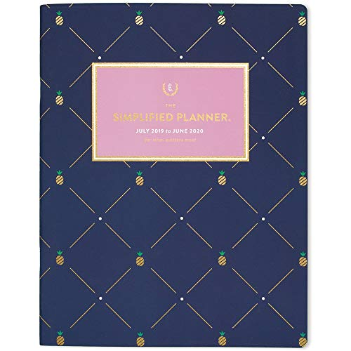 AT-A-GLANCE Simplified 2019-2020 Academic Year Monthly Planner, Large, 8-1/2