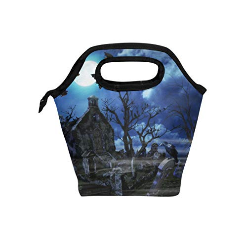 Lunch Bag 3D Halloween Naked Tree Graves Reusable