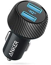 Anker Caricabatteria da Auto PowerDrive Speed 2 Caricabatterie con Doppia USB da 30W con PowerIQ 2.0 per iPhone XS/XS Max/XR/X / 8, iPad PRO/Air 2 / Mini, Galaxy S9 / S8, LG, Nexus e Altro