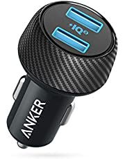Anker, PowerDrive Speed 2, autolader, 30W, dual poort, USB-oplader met PowerIQ 2.0 voor iPhone XS/XS Max/XR/X/8/7, iPad Pro/Air 2/Mini, Galaxy S9/S8/S7, LG, HTC, en nog veel meer