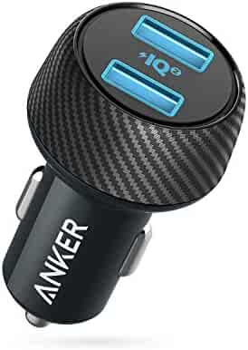 Car Charger, Anker 30W Dual USB Car Adapter PowerDrive Speed 2 with PowerIQ 2.0 for iPhone Xs/Max/XR/X/8, iPad Pro/Air 2/Mini, Galaxy S9/S8/Edge, Nexus, HTC, and More (Compatible with QC Devices)