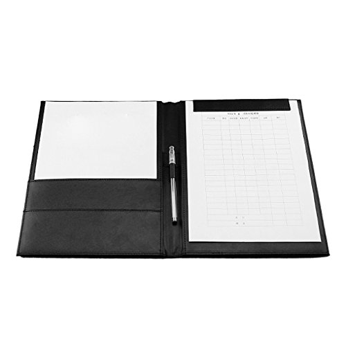 - PU Leather Padfolio A4 Writing Clipboard Business Notepad Clip Boards Meeting Conference Document Organizer File Folders Paper Resume Storage Magnets Signature Clips for Interview Quoting Office