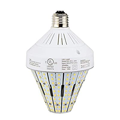 LED Corn Lamp (Mogul E39 Base, Metal Halide Replacement) Parking Lot Area Light Retrofit Bulb, 6000K Cool White High Bay Shop Light